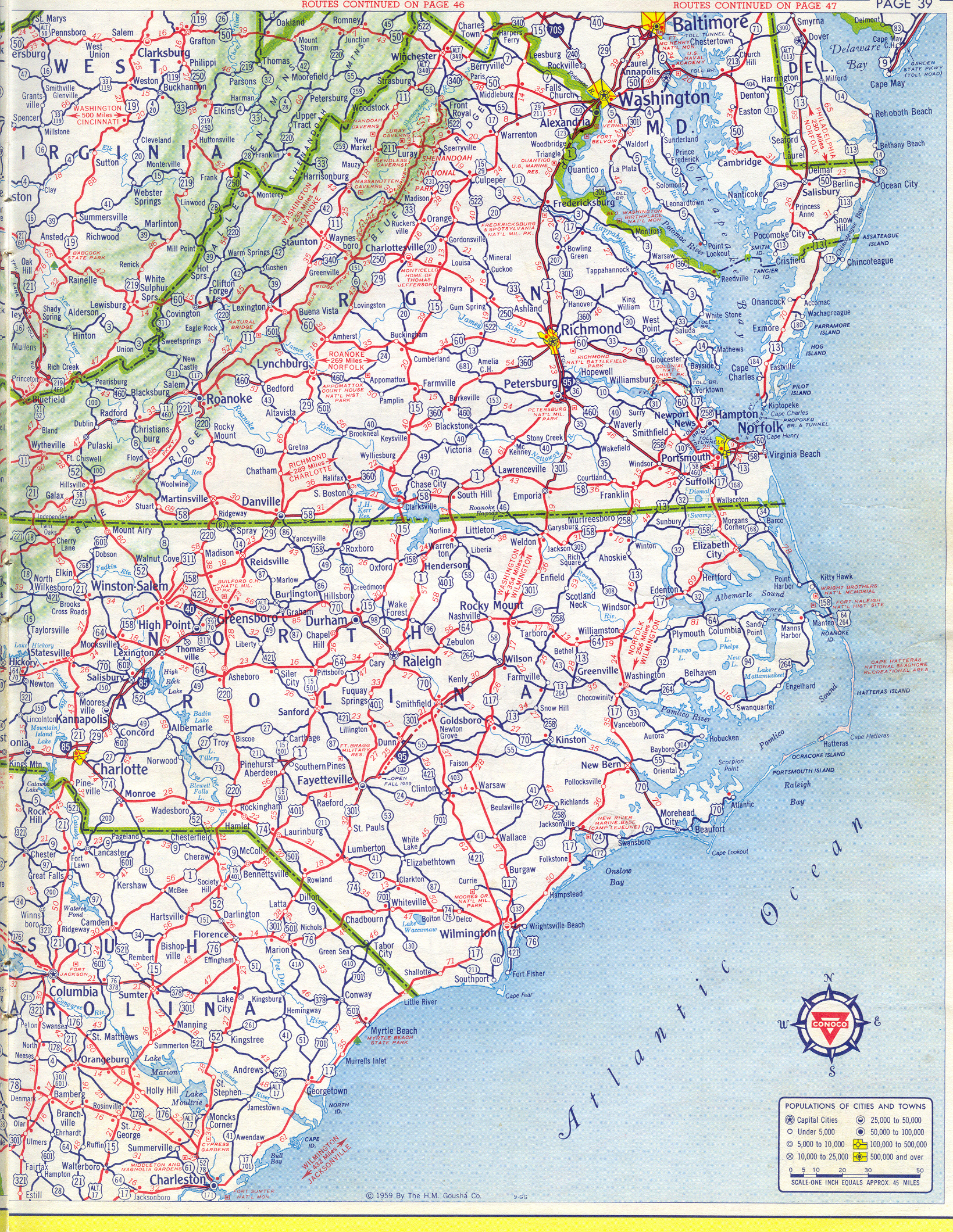 Central Virginia Map.Historical Road Maps Of Virginia